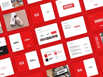 Ones brand guideline typography vector fresh logo brand branding flat design minimal