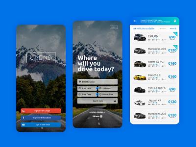 Urend App app website uxui web ux ui design minimal