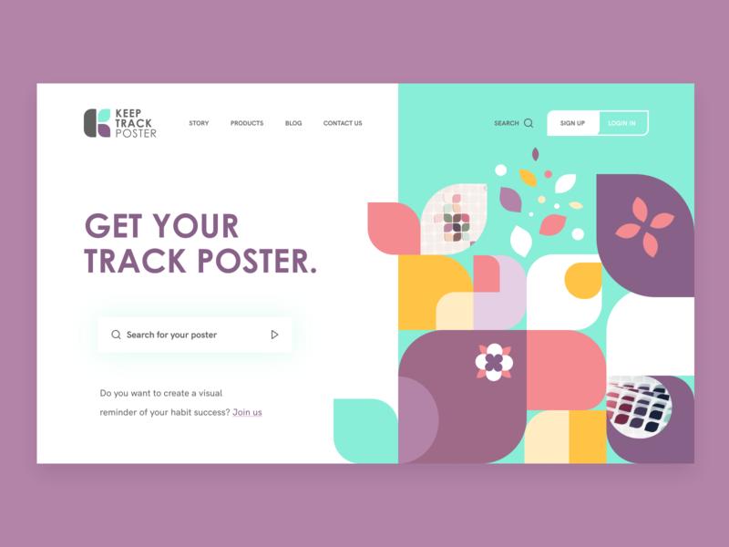 KeepTrackPoster art ux typography web branding ui website design webdesign website design