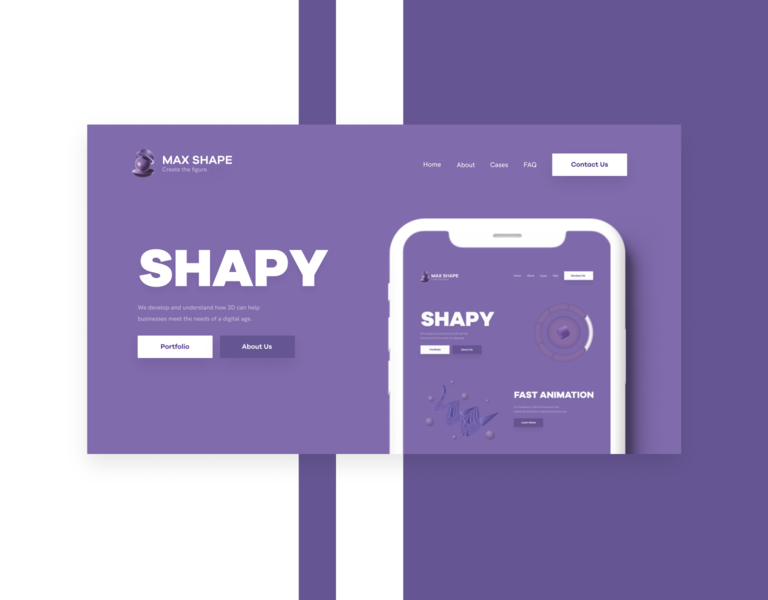 Max Shape Studio branding art website design website webdesign ux web typography ui design