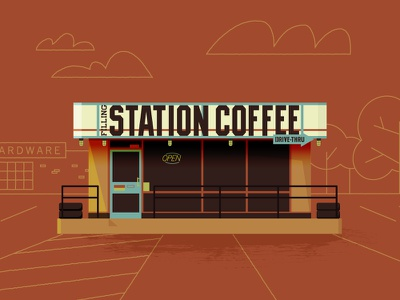 Station Coffee kansas city coffee westport illustration brew kc drive thru open
