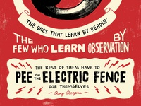 Pee on the Electric Fence