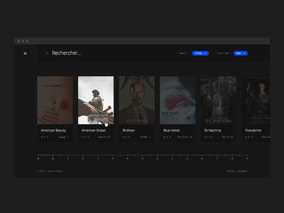 WIP : Movie review website ux ui design motion critic review film movie