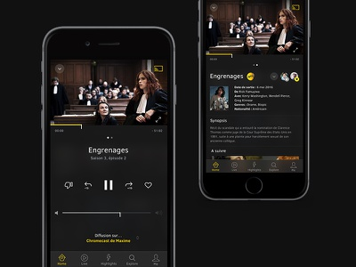 TV Cast — Player player tv cast app movie ios mobile ux ui