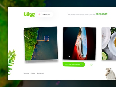 Liligo travel photography contest contest pictures social instagram scroll horizontal wall photography travel webdesign ui ux