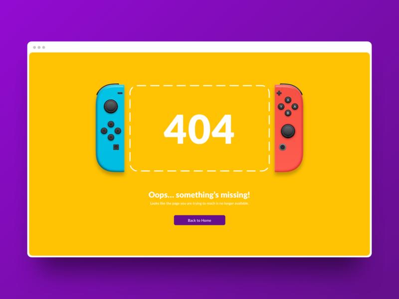 Page 404 missing ux ui design royal mario browser error 404 uiux pczohtas game nintendoswitch switch wario website nintendo 404 error daily ui 008 dailyui