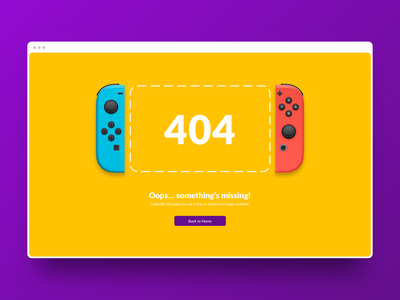 Page 404 missing ux ui design royal mario browser error 404 uiux pczohtas game nintendoswitch switch wario website nintendo 404 error daily ui 008 dailyui