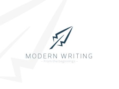 Modern Writing mw logo pánczél otto plume modern writing pen feather mongram design logo minimal pczohtas