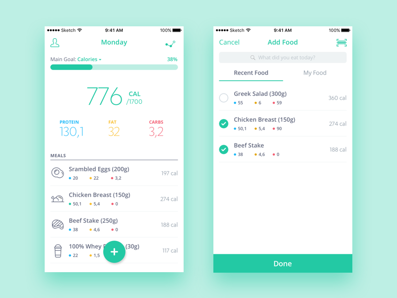 food and nutrition tracker app by otto pánczél dribbble dribbble