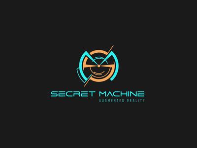 Augmented Rreality Logo virtual reality sm monogram panczel otto secret machine augmented reality logo design future high-tech pczohtas