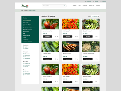 E-commerce: agricultural store ecommerce product page clean minimalist online store web shop webdesign layout design interface ui