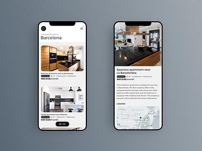 Real Estate App UI trending uiuxdesign inspiration interface design mobile mobile ui uitrends minimalist mobile app app design mobileui