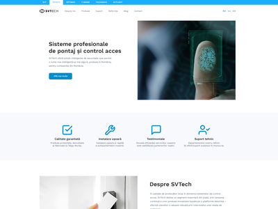 Website Design for Access Control Systems Company website layout interface webdesign minimalist clean ui design