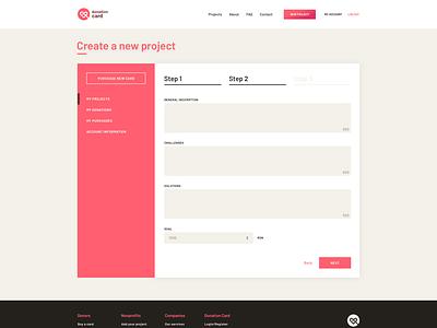 Donation Card Website Design webdesign website design layout form login design interface ui