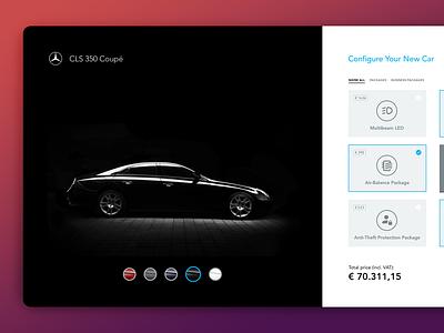 Product Configurator (Mercedes Benz) layout webdesign app design interface ui