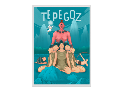 """Tepegoz myth"" poster art poster illustration digital tepegoz azerbaijan mythology mythical illustration illustrator"