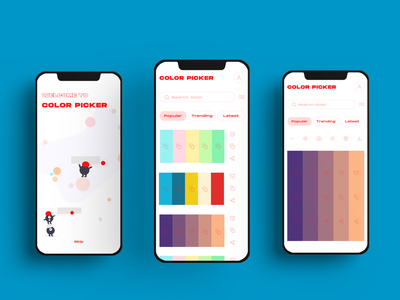 Color picker App concept color scheme color palette typography app design design simple colorful ux design uidesign color generator color picker color mobile app