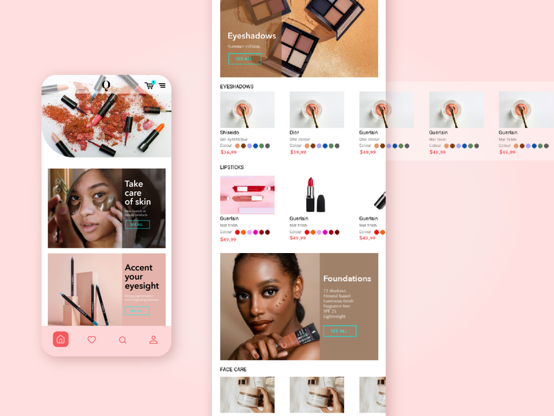 E COMMERCE COSMETICS STORE digital cosmetics online store online shop ecommerce shop ecommerce app mobile app shop app mobile banner design ux web design web ui ui design