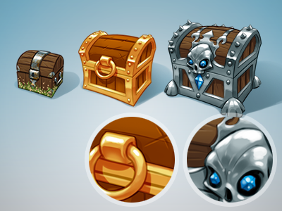 Starter Pack Icons game skull detail art icon gold silver barnacle wood chest gaming ios iron texture cartoon comic