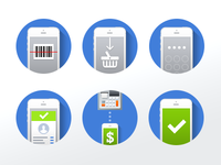 iPhone POS minimal website icons
