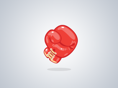 POW! boxing glove boxing glove icon game ingame pow smack thud knockout red sports leather vector shiny glossy cartoon comic laces fight not the face athlete rocky