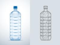 Water Bottle - vector