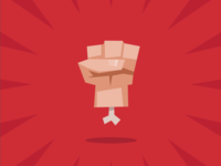 REVENGE! fingers severed bone vector illustration red hand silly cartoon flat game icon game art revenge fist icon