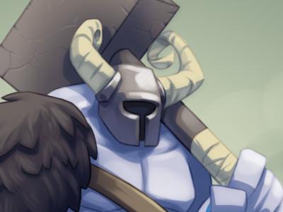 Hammertime hammer horns viking helmet illustration drawing sketch painting character