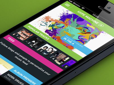Hype Machine iOS app ui design ios hypemachine music player radio iphone app application