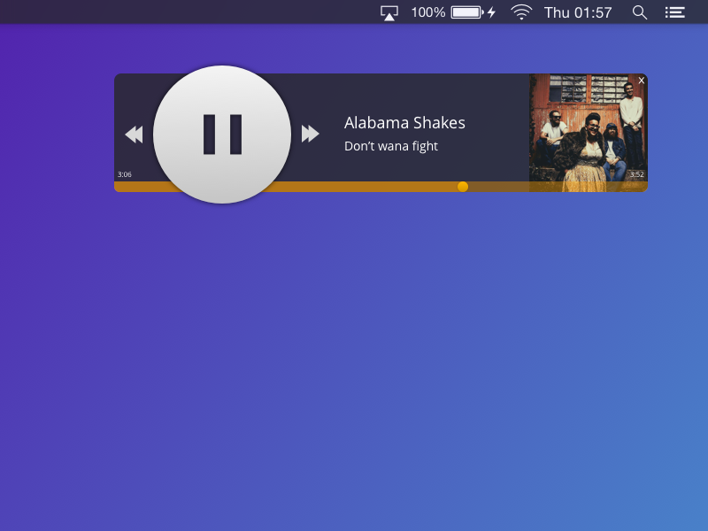 Daily UI #009 - Music Player winamp mac osx dark player music 009 ui daily
