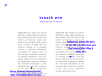Artist portfolio idea - Text