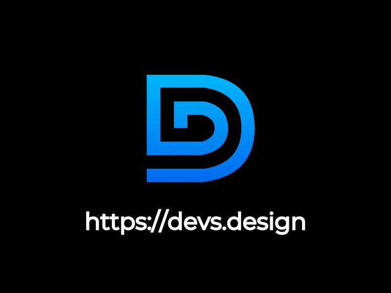 Devs Design logo branding design ui frontend development ux dd frontend developers