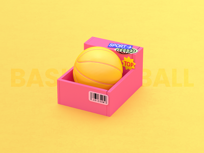 Working sample for 3D #3 character toy shoes 3dart c4d basketball pink cinama4d clean illustration 3dcharacter