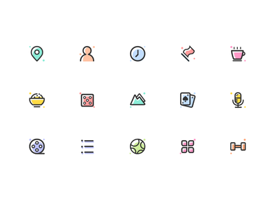 Colorful- Icon Set vector mark logo illustration identity icons icon branding