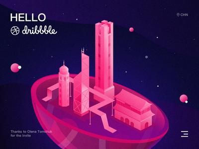 Hello Dribbble!)-Lovely city;)