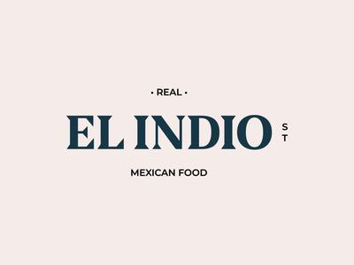 Logo el Indio Mexican food branding mexican food logo design logo