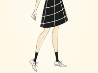 Vintage inspired fashion illlustration