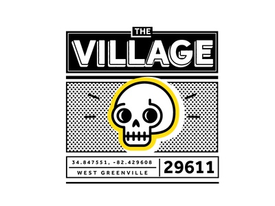 The Village of West Greenville Skull yellow west village the illy greenville dots ion blue adobe