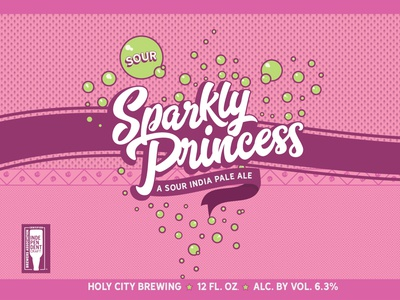 Sparkly Princess Beer Can Label