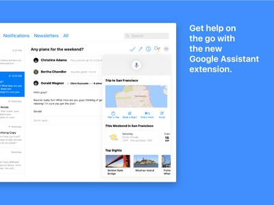 Concept: The new macOS Mail - Google Assistant Extension