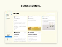 Concept: The new macOS Mail - Drafts