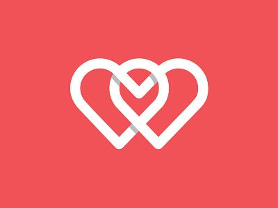 Intimacy mark logo heart design figure symbol intimacy
