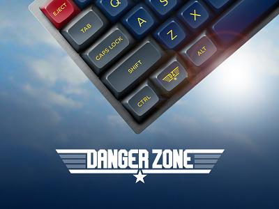 Danger Zone - Custom Keycap Mock-ups products air force photoshop realism plastic keycaps keyboards mechanical keyboards