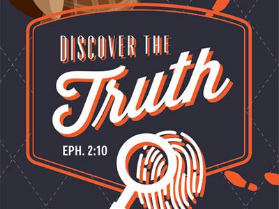 Kids Summer Camp Theme Branding mystery kids camp brochure typography branding