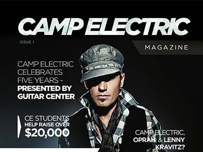 Camp Electric Music Camp Magazine Cover editorial cover magazine