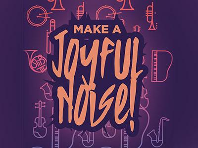 Branding for Summer Camp Brochure 80s music worship