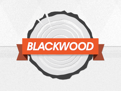 Blackwood wood logo website header subtle texture