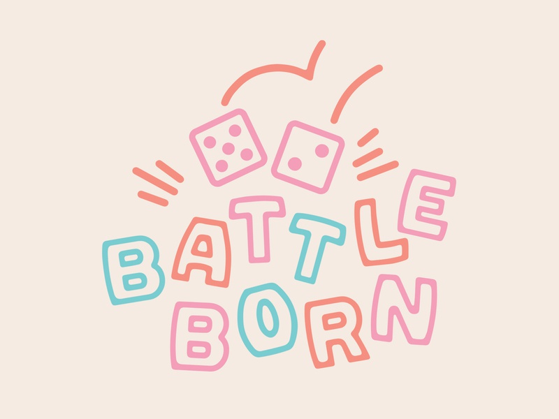 Battle Born Logo type lettering