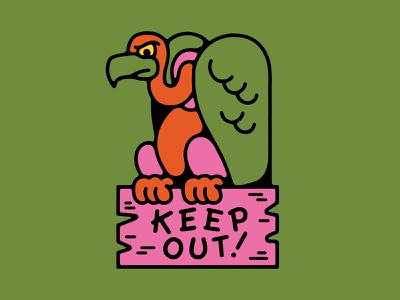 Keep Out! vector colors halloween animal
