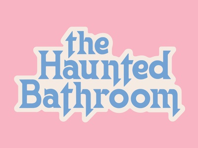 Haunted Bathroom Logo color type lettering logo